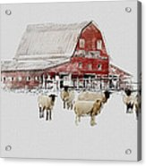 Weatherbury Farm Acrylic Print