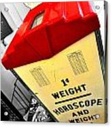 Weight Scale Acrylic Print
