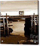 Wharf At Low Tide Acrylic Print