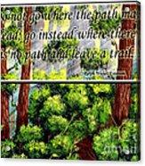 Where The Path Leads Acrylic Print