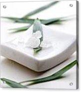 White Bath Salt Acrylic Print