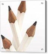 White Pencils Acrylic Print