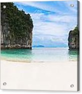 White Sandy Beach In Thailand Acrylic Print