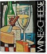 White Wine And Cheese Poster Acrylic Print