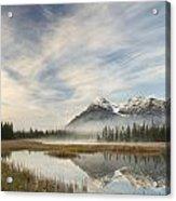 Whitegoat Lake And Mount Elliot Acrylic Print