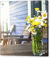 Wildflowers Bouquet At Cottage Acrylic Print