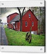 Williston Mill Acrylic Print