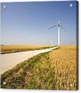 Wind Turbine, Humberside, England Acrylic Print