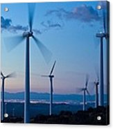 Wind Turbines Acrylic Print by David Nunuk