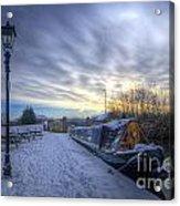 Winter At The Boat Inn Acrylic Print