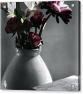 Red Floral Still Life  Acrylic Print