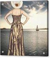 Woman At The Lake Acrylic Print
