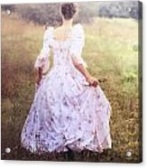Woman In A Meadow Acrylic Print