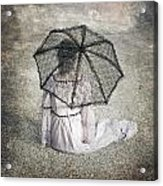 Woman On Street Acrylic Print