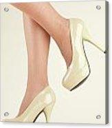 Woman Wearing High Heel Shoes Acrylic Print