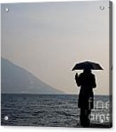 Woman With An Umbrella Acrylic Print