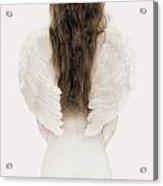 Woman With Angel Wings Acrylic Print