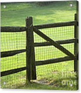 Wood Fence Acrylic Print