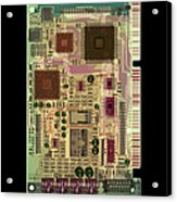 X-ray Of Sound Card Acrylic Print by D. Roberts
