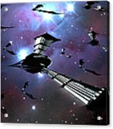 Xeelee Nightfighters, Inspired Acrylic Print by Rhys Taylor