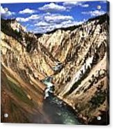 Yellowstone River Below Lower Falls  Acrylic Print