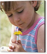 Young Girl With A Flower Acrylic Print