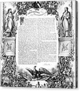 Emancipation Proclamation Acrylic Print
