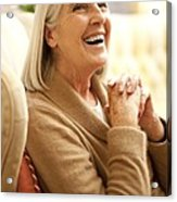 Happy Senior Woman Acrylic Print