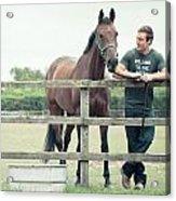Horseman Acrylic Print