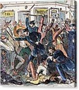 New York: Draft Riots Acrylic Print