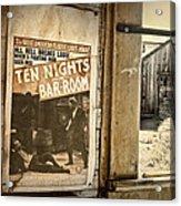 10 Nights In A Bar Room Acrylic Print