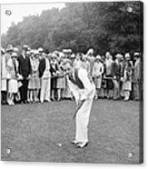 Silent Film Still: Golf Acrylic Print