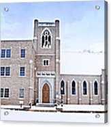 1001-0369 Cherry Street Baptist Of Clarksville Acrylic Print by Randy Forrester
