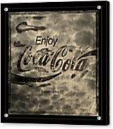 Coca Cola Sign Grungy Retro Style Acrylic Print