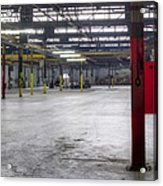 An Empty Industrial Building In Los Acrylic Print by Dan Kaufman