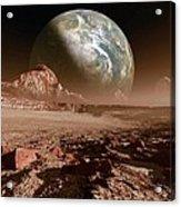 Earth-like Planet, Artwork Acrylic Print