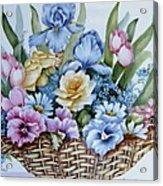 1119 B Flower Basket Acrylic Print by Wilma Manhardt