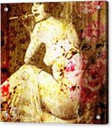 Winsome Woman Acrylic Print