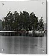 Haukkajarvi First Snow Acrylic Print