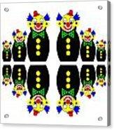 12 Russian Clown Dolls Acrylic Print