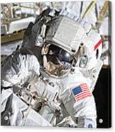 Astronaut Participates Acrylic Print
