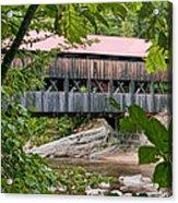 12690 Albany Covered Bridge Acrylic Print