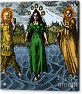 Alchemy Illustration Acrylic Print