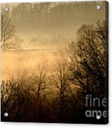 Misty Mountain Sunrise Acrylic Print