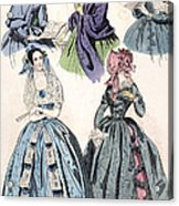 Womens Fashion, 1842 Acrylic Print