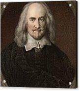 1660 Thomas Hobbes English Philosopher Acrylic Print
