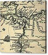 1698 W. Dampier Pirate Naturalist Map Acrylic Print by Paul D Stewart