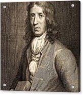 1698 William Dampier Pirate Naturalist Acrylic Print by Paul D Stewart