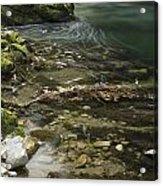 The Soteska Vintgar Gorge Acrylic Print