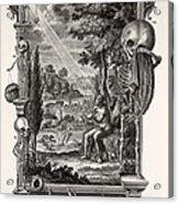 1731 Johann Scheuchzer Creation Of Man Acrylic Print